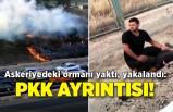 Askeriyedeki ormanı yaktı, yakalandı: PKK ayrıntısı!