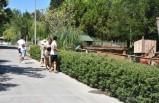 İzmir'in doğal yaşam parkında bayram yoğunluğu