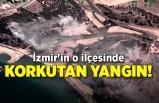 İzmir'in o ilçesinde korkutan yangın!