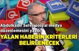 Abdulkadir Selvi, sosyal medya düzenlemesini yazdı: Yalan haberin kriterleri belirlenecek
