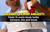 AK Parti ve MHP anlaştı: Yüzde 10 seçim barajı tarihe karışıyor, işte yeni baraj!