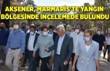 Akşener, Marmaris'te yangın bölgesinde incelemede bulundu