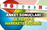 Anket sonuçları AK Parti'yi harekete geçirdi!
