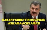 Bakan Fahrettin Koca'dan aşılama açıklaması