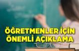 Bakan Özer'den öğretmenler için önemli açıklama