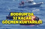 Bodrum'da 32 kaçak göçmen kurtarıldı
