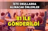 İl Milli Eğitim Müdürlüklerine gönderildi: Koronavirüste okullarda alınması gereken önlemler