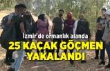 İzmir'de ormanlık alanda 25 kaçak göçmen yakalandı