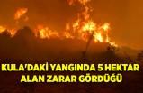 Kula'daki yangında 5 hektar alan zarar gördüğü