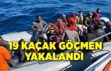 Lastik botta 19 kaçak göçmen yakalandı