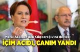 Meral Akşener'den Kılıçdaroğlu'na destek: İçim acıdı, canım yandı