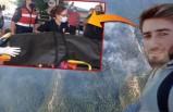 Orman yangınına müdahale ederken ayı saldırdı!