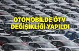 Otomobilde ÖTV değişikliği yapıldı
