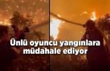 Oyuncu İbrahim Çelikkol, Milas'taki orman yangınına ön saflarda müdahale ediyor