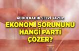 Abdülkadir Selvi yazdı: Ekonomi sorununu hangi parti çözer?
