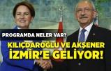Kılıçdaroğlu ve Akşener İzmir'e geliyor! Programda neler var?