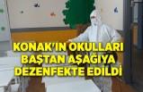 Konak'ın okulları baştan aşağıya dezenfekte edildi