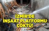 Beton dökülen inşaat platformu çöktü!