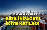 Türkiye'nin Çin'e gıda ihracatı ikiye katladı