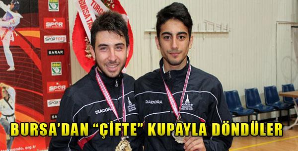 Bursa'dan 'Çifte' Kupayla Döndüler