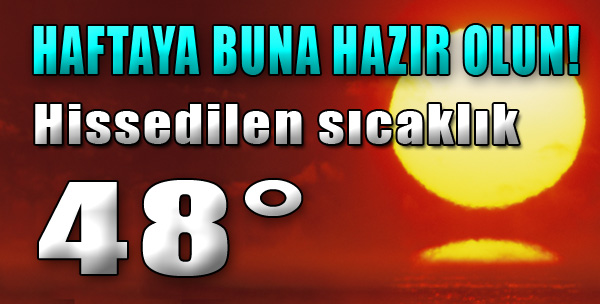 Hissedilen Sıcaklık 48 Derece...