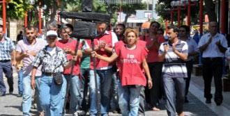 Mersin'de Parkomat İşçileri Eylem Yaptı