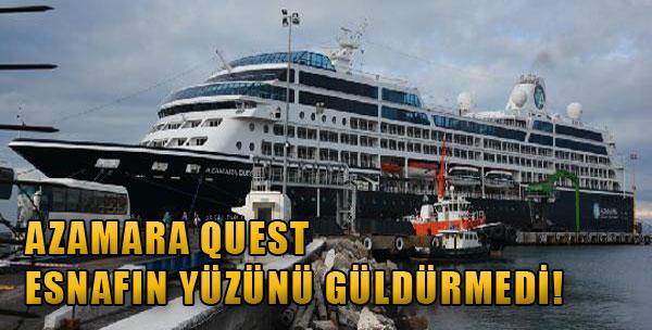 Azamara Quest Esnafın Yüzünü Güldürmedi