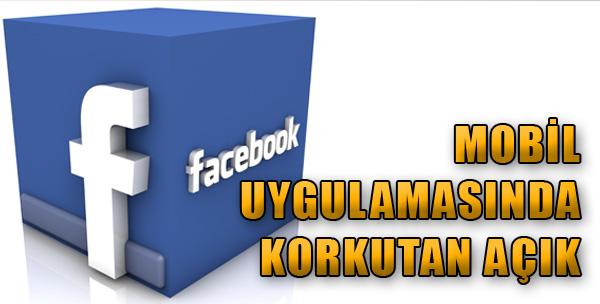 Facebook'ta Korkutan Açık