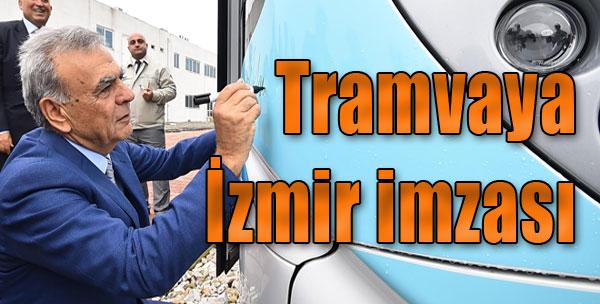 Tramvaya İzmir İmzası