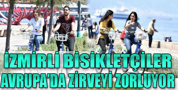 İzmir'de Bisiklette Doyum Olmuyor