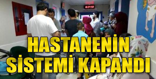 Hastanenin Sistemi Kapandı