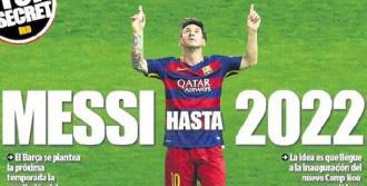 Messi'ye 6 Yıllık Sözleşme Talebi