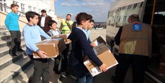 Tekirdağ'da Suriyeli Ailelere Gıda Yardımı