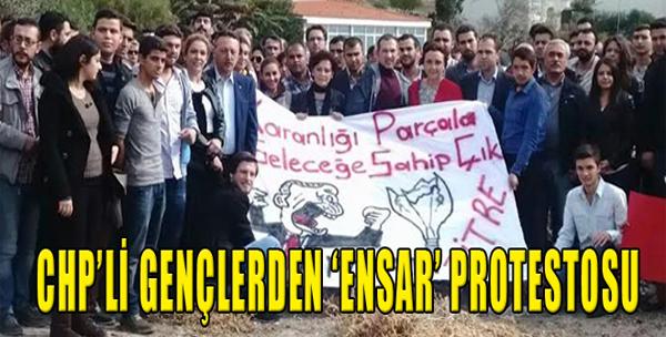 CHP'li Gençlerden 'Ensar' Protestosu