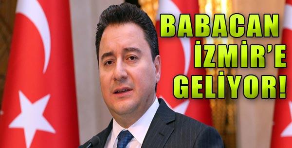 Babacan 4 Ağustos'ta İzmir'de