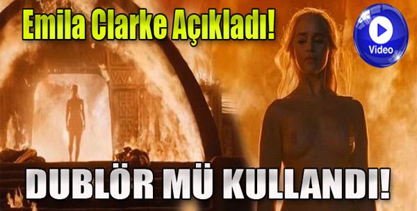 Emilia Clarke'dan Cesur Sahne!