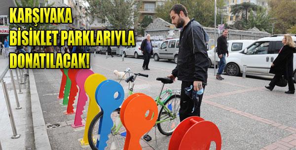 Karşıyaka Bisiklet Parklarıyla Donatılacak