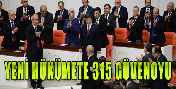 64. Hükümet 315 Oyla Güvenoyu Aldı