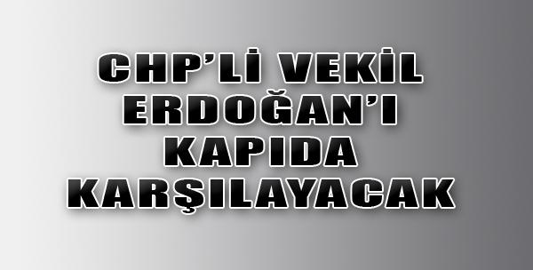 Erdoğan'ı Kapıda Karşılayacak