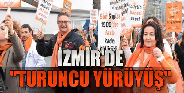 İzmirliler 'Kadına Şiddete Hayır' Dedi