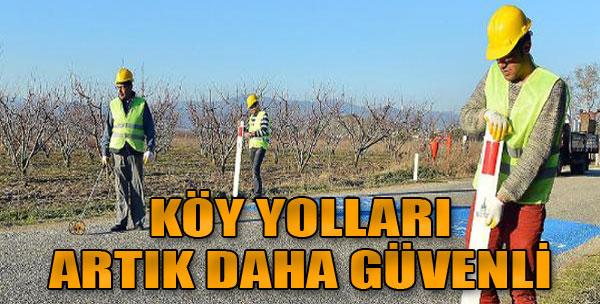 İzmir'de Köy Yolları Daha Güvenli
