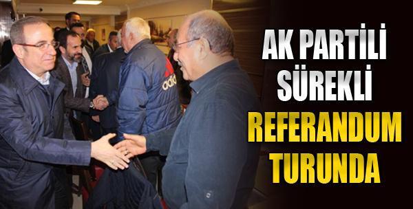 AK Partili Sürekli Referandum Turunda