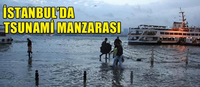 İstanbul'da 'Tsunami' Manzarası