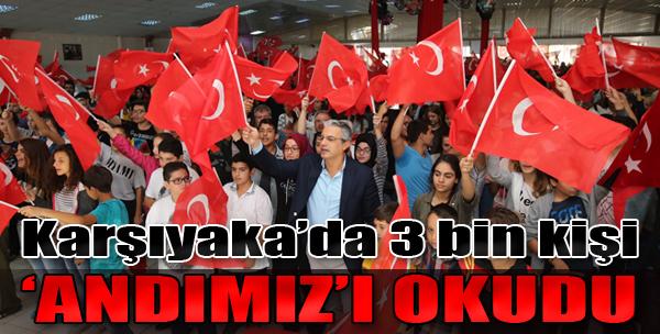 Karşıyaka'da 3 Bin Kişi 'Andımız'ı Okudu