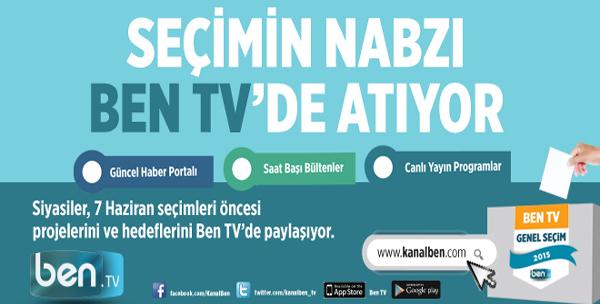 Seçimin Nabzı Ben TV'de Atıyor