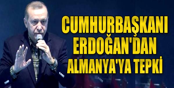 Cumhurbaşkanı Erdoğan'dan Almanya'ya Tepki
