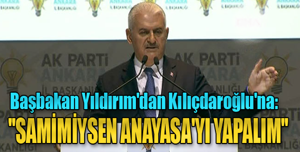 Başbakan Yıldırım Kılıçdaroğlu'nu Eleştirdi