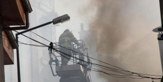 Yemek Fabrikasında Korkutan Yangın