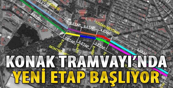 Konak Tramvayı'nda Yeni Etap Başlıyor