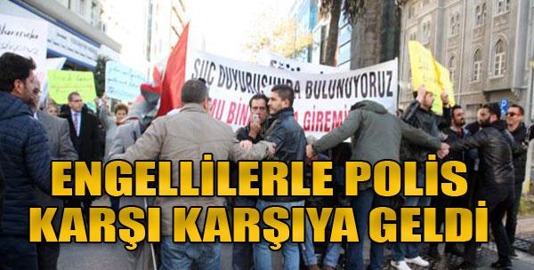 İzmir'de Engelliler Günü Gerilimi